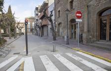 La plaça Vell Pla de Guissona es converteix en zona de vianants