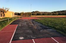 Arbeca, sin campo de fútbol y con pistas destrozadas