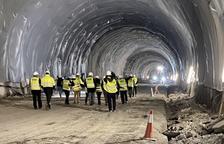 Treballs per impermeabilitzar el túnel de Tresponts, a punt aquest any