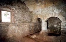 El interior de una de las salas de las adoberías de Tremp.