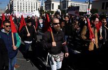 Protestes a Grècia contra la nova reforma de pensions