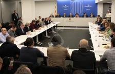 Un moment de la reunió d'aquest dimecres a Lleida, encapçalada pel president Torra.
