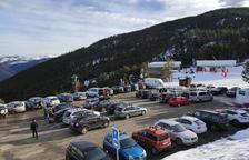 Imatge del pàrquing de l'estació d'esquí de Port Ainé el mes de novembre passat.