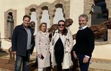 Visita cultural de Eduardo Chillida hijo a Almacelles
