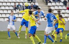 Luso, goleador ayer al rematar de cabeza un córner botado por Abel Molinero, intentó repetir la acción varias veces.