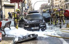 Un nou foc calcina un cotxe i obliga a desviar el trànsit a Prat de la Riba