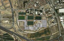 Imagen de cómo quedaría el terreno con los cuatro campos de fútbol y el resto de instalaciones.