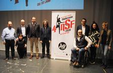 L'escenari del teatre L'Amistat va acollir ahir la presentació del programa del festival.