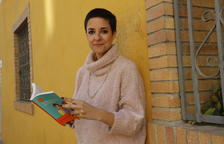 La periodista i escriptora Gemma Ruiz, ahir amb el llibre a Lleida.