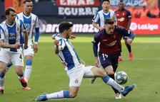 L'Espanyol fa un pas enrere amb una derrota de penal a Pamplona