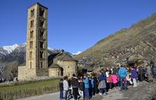 Veïns de la Vall de Boí en la celebració a Taüll de l'aniversari de la declaració de Patrimoni el 2016.