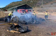 Sofocan un incendio en una explotación en Bellver de Cerdanya