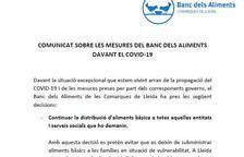 Comunicat del Banc dels Aliments de Lleida