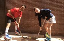 Pol Franci, del Monza italià, i la seua germana Mar, de l'Igualada, esperen confinats a Bell-lloc que es reprengui la competició d'hoquei