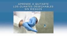 Aprende a quitarte los guantes desechables sin riesgos de infección