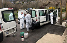 L'exèrcit desinfecta la residència geriàtrica de Sort per prevenir contagis