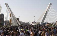 Diez años del puente más icónico de Lleida