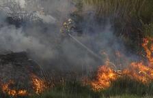 Un incendio calcina cuatro hectáreas entre Puigverd de Lleida y la capital