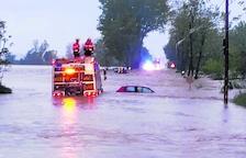 Mor un home al ser arrossegat pel riu Gurri a conseqüència de les pluges