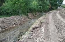 La Generalitat restaura el cauce del río Farfanya a su paso por Os de Balaguer