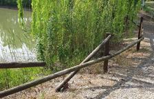 Destrossen el mobiliari del parc de la Bassa de Vallfogona