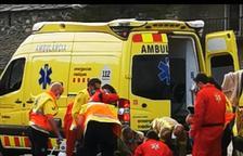 Trasladan crítico a la Vall d'Hebron a un ciclista tras sufrir un caída en Montferrer