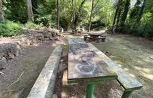 Denuncian vandalismo en un parque de Sanaüja