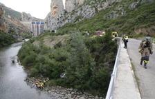 VÍDEO | Tres ferits al caure per un barranc a Ivars de Noguera