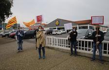 Protesta sindical en Lidl en Lleida y cierre en Fraga con una jornada de huelga