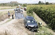 Herido un tractorista tras chocar con un turismo en la L-200 en Puiggròs