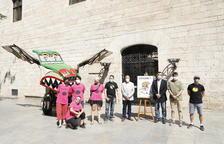 Presentación del Esbaiola't, con La Baldufa, el alcalde de Esterri y representantes del IEI y Cultura.