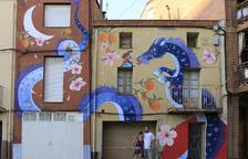 Alfarràs celebra su Festa Major con tres murales para decorar el pueblo