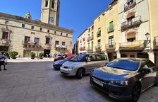 La plaza Major de Cervera se queda sin aparcamientos