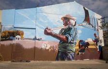 Lily Brik culmina el mural del Segar i el Batre de La Fuliola