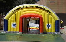 Hospital de campanya a l'Arnau per acollir possibles contagiats de Covid
