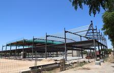 Vista de les obres de l'establiment de Conforama, de 4.448 metres quadrats.