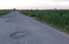 Queixes per clots en una carretera comarcal del Pla d'Urgell
