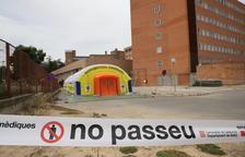 Imatge de l'hospital de campanya a l'Arnau de Vilanova de Lleida