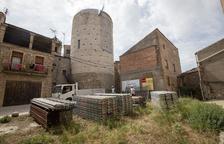 Imagen de los trabajos en la torre medieval de Ivorra.