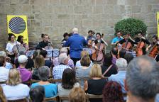 Un concierto el año pasado en la plaza de la Catedral de Solsona.
