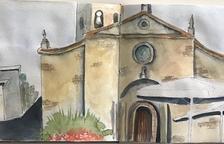 Dibuixem Ponent: plaça de l'església de Juneda