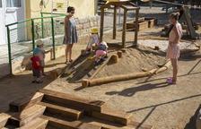 El patio de la Llar d'Infants de Sant Martí, espacio pedagógico