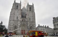 Un detingut per l'incendi a la catedral de Nantes