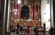 Un momento del concierto de ayer en la iglesia de Santa Maria de Gràcia de La Granadella.