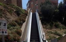Fraga repara una avaria a les escales mecàniques