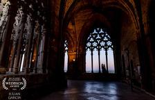Una de las imágenes premiadas en el Weddison Award, captada en el claustro de la Seu Vella.