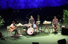 El grupo Stay Homas, en el Teatre Grec durante su primer concierto el pasado mes de julio.