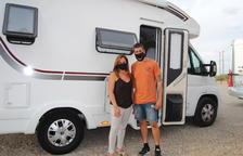 Viajeros en autocaravana en el Pla d'Urgell