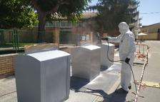 Trabajos de mantenimiento de los contenedores soterrados
