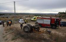 Fallece un vecino de Almacelles de 83 años de edad al volcar su tractor